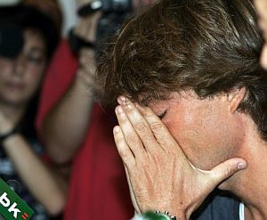 Guerrero, emocionado, durante la rueda de prensa. (Foto: EFE)