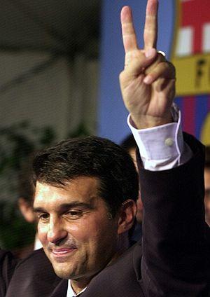 Joan Laporta se proclamó presidente en junio de 2003. (Foto: EFE)