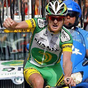 Gesto de rabia de Landis tras su triunfo en Morzine. (Foto: EFE)