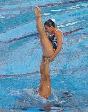 Nadadoras españolas en la final por equipos. (Foto: EFE)
