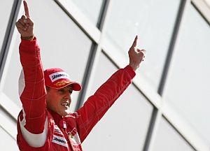 Schumacher celebra su victoria en Monza. (Foto: AP)