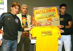 Jonathan y Valdés, en la presentación del duelo. (Foto: EL MUNDO)