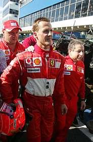 Schumacher y Todt. (AFP)