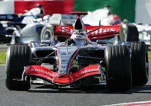 Un McLaren, durante el GP de Brasil. (Foto: REUTERS)