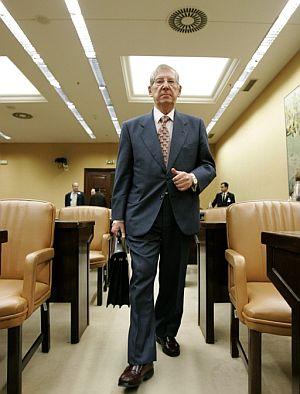 Ubaldo Nieto, presidente del Tribunal de Cuentas, este martes, en el Congreso de los Diputados. (Foto: EFE)