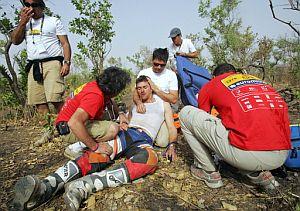 Coma tuvo que abandonar tras sufrir una caída en la 13ª etapa. (Foto: AFP)