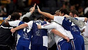 Los jugadores franceses festejan su pase a semifinales. (Foto: EFE)