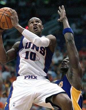 Barbosa, en el primer encuentro de playoffs de los Suns. (Foto: EFE)