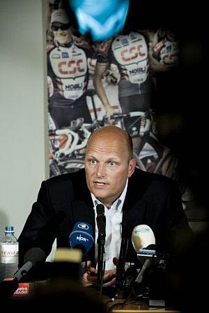 Riis, en su rueda de prensa. (Foto: AFP)