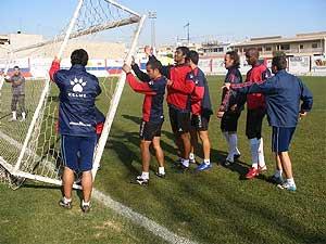 El Ciudad de Murcia, durante un entrenamiento.