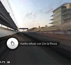 Vuelta virtual a Indianápolis con De la Rosa.