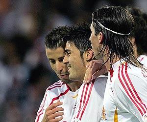 Los jugadores de la Selección celebran un gol. (Foto: EFE)
