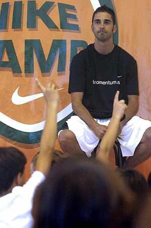 Juan Carlos Navarro en el Campus de baloncesto de Andorra. (Foto: EFE)