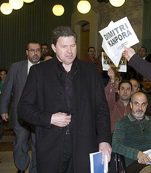 Piterman la pasada campaña llegando a una junta ordinaria. (Foto: EFE)