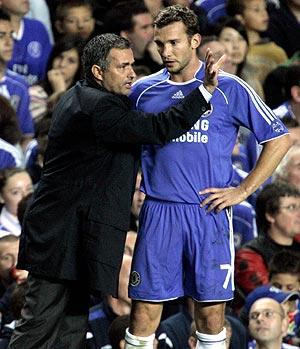 La relación entre Shevchenko y Mourinho nunca fue buena. (Foto: AP)