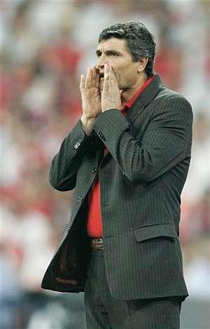 Juande, en la última final de la Copa de la UEFA. (Foto: AP)