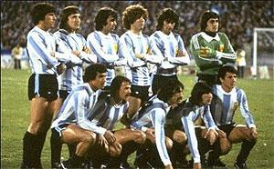 Imagen de la selección argentina campeona del mundo en 1978.