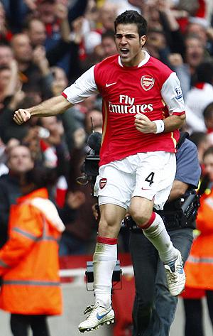 El líder indiscutible del Arsenal, Cesc Fábregas. (Foto:Reuters)