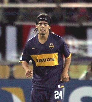 Banega, en su etapa en Boca Juniors. (Foto: EFE)