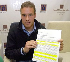 Borja Criado, en la rueda de prensa que ha ofrecido este jueves. (Foto: EFE)