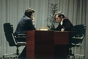 Bobby Fischer contra Boris Spassky. Algo más que el título mundial estaba en juego (Foto: Ap)