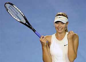 Sharapova celebra su victoria sobre Jankovic. (Foto: AFP)