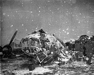El avión accidentado en Múnich en 1958. (Foto: AP)