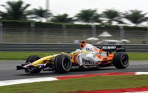 Fernando Alonso, en el circuito de Sepang. (Foto: EFE)