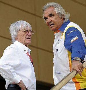 Flavio Briatore junto a Bernie Ecclestone. (Foto: AFP)