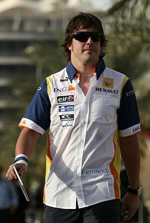Fernando Alonso, en una carrera de la temporada. (Foto: AP)