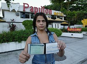 Uno de los travestis que protagonizaron el escándalo con Ronaldo. (Foto: REUTERS)