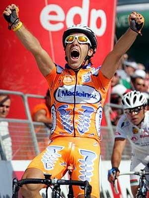 Bruno Neves, en una de sus victorias.