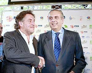 Pepu y Sáez, en la presentación de la equipación para los Juegos. (Foto: Chema Tejada)