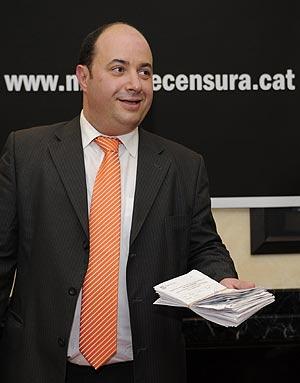 Oriol Giralt, promotor de la moción de censura contra Laporta. (Foto: AFP)