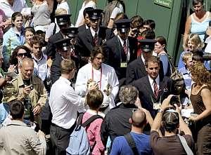 Rafa Nadal, al salir de un entrenamiento. (Foto: AFP)