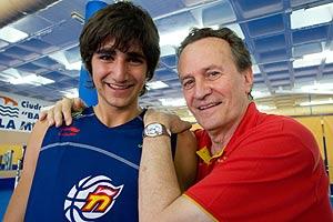 Ricky Rubio y Aíto García durante la concentración de la selección. (Foto: José F. Ferrer)