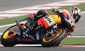 Dani Pedrosa, durante su última carrera con Michelin. (Foto: AP)
