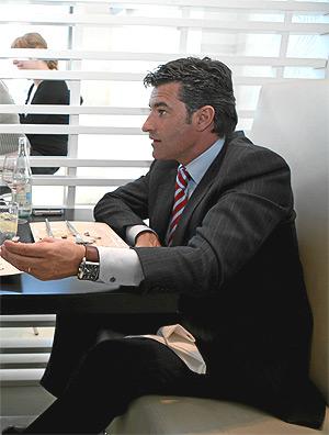Míchel, durante una entrevista con EL MUNDO. (Foto: B. RIVAS)