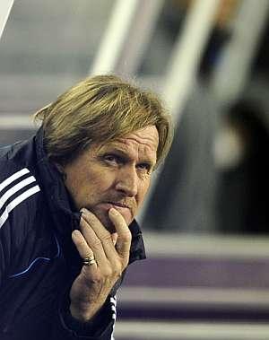 Schuster, durante uno de sus últimos partidos. (Foto: AFP)