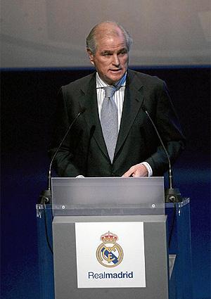 Ramón Calderón, en aquella Asamblea. (ELMUNDO)