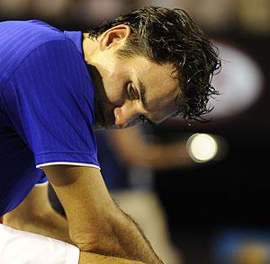 Federer, durante la final del Abierto de Australia. (AP)