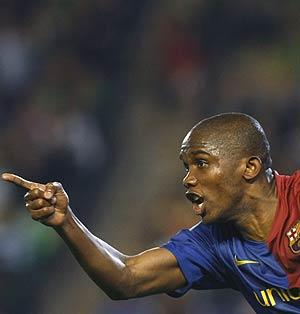 Samuel Eto'o, delantero del Barcelona. (Foto: REUTERS)