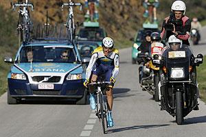 Alberto Contador, durante la cuarta etapa de la Vuelta al Algarve. (Foto: Reuters).