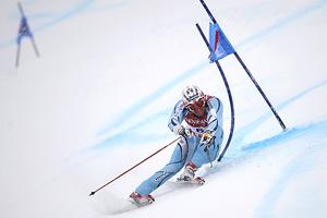 El noruego Aksel Lund Svindal durante la prueba de eslalon de la Copa del Mundo. (Foto: AP)