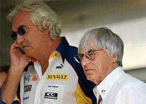 Bernie Ecclestone y Flavio Briatore.