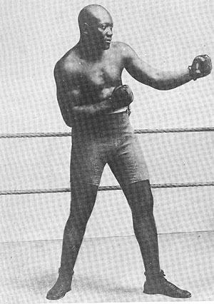 Jack Johnson, en una imagen de principios de siglo.