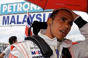 Lewis Hamilton , tras el Gran Premio de Malasia (Foto: EFE)