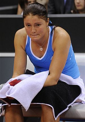 Dinara Safina, durante el torneo de Stuttgart. (Foto: AFP)