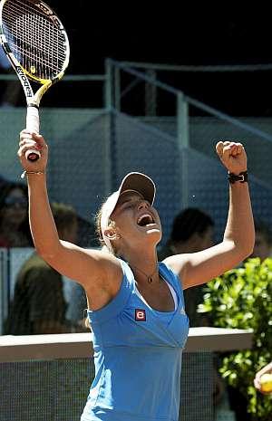 Caroline Wozniacki celebra su pase a la final. (Foto: EFE)