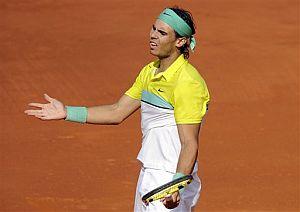 Rafael Nadal, en un momento del partido ante Djokovic. (Foto: AP)